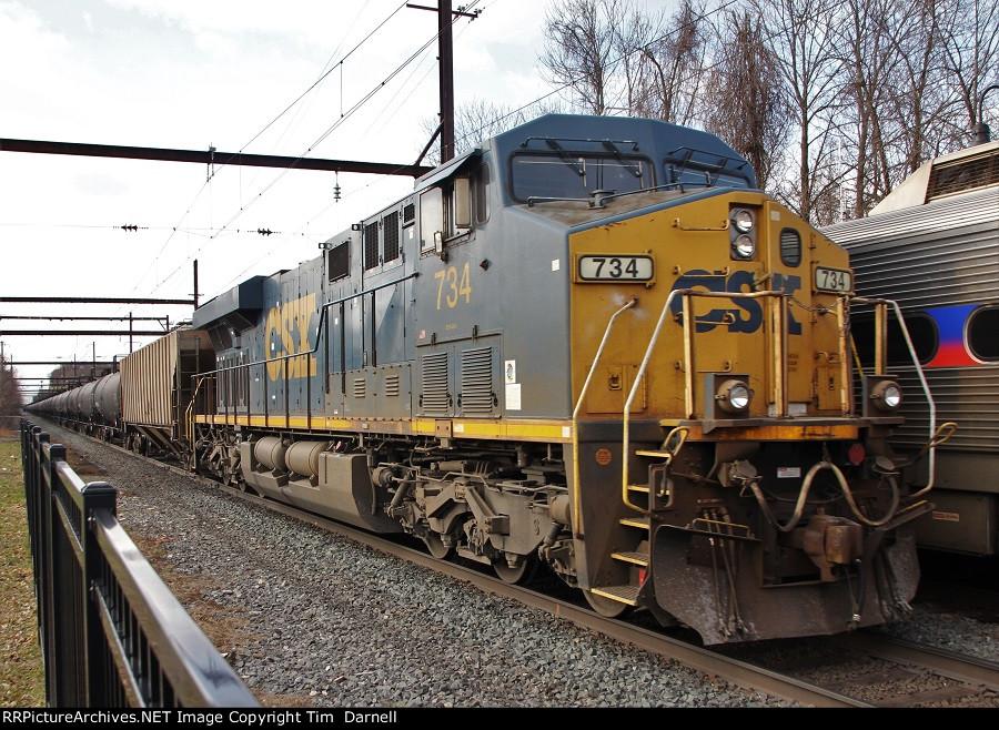 CSX 734 leading K623
